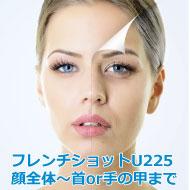 グルタチオン(美白)肌再生治療(フレンチショットU225)顔~首